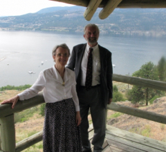 Rod with Linda Gibbons in Kelowna