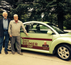 David Reimer showing Rod his classy campaign car for Election 2015.