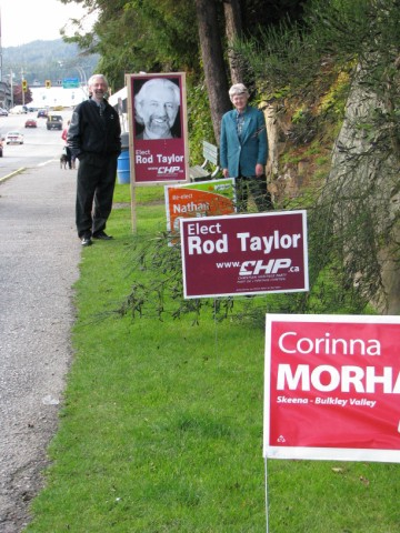 2008 in Prince Rupert with Cap candidate Mary Etta Cloud